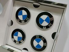 Set of 4 BMW OEM ROUNDEL WHEEL CAP EMBLEM BADGE CENTER CAP