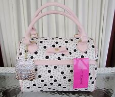 Betsey Johnson Dots Spots Speedy Lunch Tote Bag Insulated Top Handle NWT