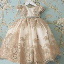 Lovely Baby Girl Appliques Christening Dresses Bead Pearls Vintage Baptism Gown