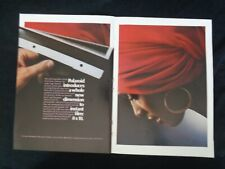 Vintage Print Ad Centerfold Polaroid Instant Film Camera Lady in Red Gold Earrin