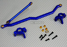 Axial Wraith, Scorpion Front ALL METAL KNUCKLES + STEERING LINK - BLUE