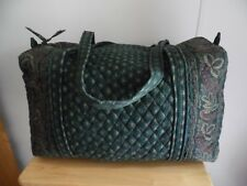 Vintage Vera Bradley Large Duffel in Classic Green, Excellent Condition