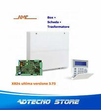 AMC - KIT Centrale antifurto 8 zone espandibile a 24 - X824 con tastiera Kblue