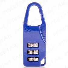 Travel Padlock 3-DIGIT COMBINATION Luggage/Suitcase/Holdall/Backpack Secure Lock