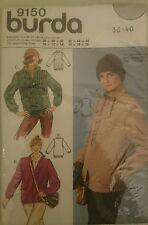 "VINTAGE 80 s sewing pattern BURDA 9150 Zip Front Jacket Pattern, Casual 36-40"" UC"