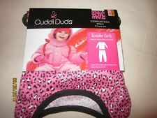 new 2 piece GIRLS CUDDL DUDS comfortech poly PINK print POLYESTER warmth 2T/3T
