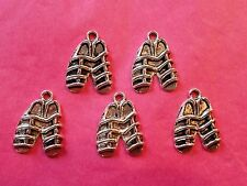 Tibetan Silver Knights Shoe/Armour Charms 5 per pack