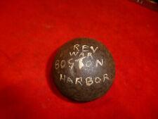 """Rare Revolutionary War Era American 3 1/2"""" Cannonball Found Near Boston Harbor"""