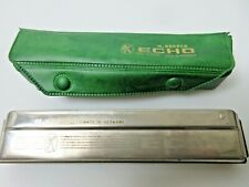 Vintage M Hohner Echo No# 2309 Harmonica Made in Germany Includes Green Case