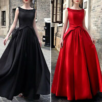 Formal Women Dresses Prom Evening Party Cocktail Bridesmaid Wedding Sleeveless