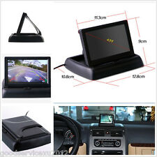 """ABS Plastic Foldable 4.3"""" LCD Car Reverse Monitor For Parking Camera VCR DVD VCD"""