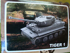 Tiger 1 Motorized Battery Powered Action 1/32 Tank For Flatcar Load, Scenery Kit