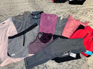 Lot of 10 womans sz XL Yoga/pilates athletc wear. Athleta, Under Armour, more