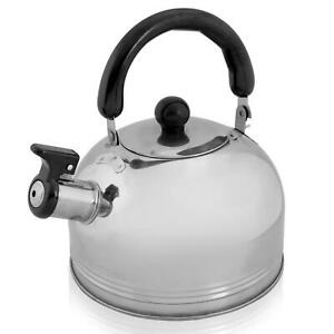 New 2.5L Stainless Steel Whistling Kettle kitchen/Home Camping Gas Hob Chrome