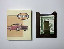 Fossil ML-5504200 Front Pocket Wallet Money Clip Genuine Leather Brown