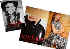 Vtg clippings Vogue Paris 1994 Bridget Hall Ralph Lauren GUESS ads lot catalog
