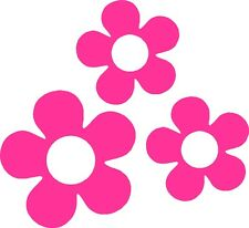 Retro 60's Flower Vinyl Decals Stickers for Car or Van (Magenta)
