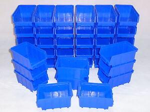 Stapelboxen 80 Stk. Stapelkästen Gr.2  Kunststoff PP blau Sichlagerkästen  NEU