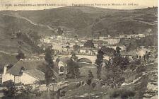 Saint-cirgues-en-montagne 2530 general view and bridge on the mézan stamped 1929