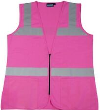 ERB S721 Pink Safety Vest Ladies Contour Fitted Hi-Visibility Size LARGE
