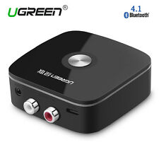 UGREEN V4.1 Wireless Bluetooth Audio Receiver 3.5mm AUX&2 RCA Adapter Car Music