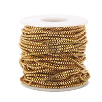 3Meters Gold Plated Stainless Steel Box Chain Findings 2mm for DIY Jewelry Make