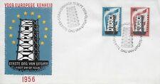 104 NEDERLAND FDC E27 EUROPAZEGELS 1956