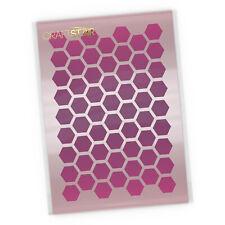 Honeycomb Pattern Stencil - Airbrush / Craft - Honeycomb Background Stencil