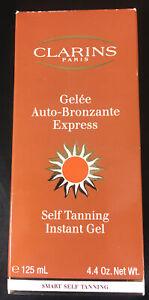 Clarins Paris Gelee Auto-Bronzante Express Self Tanning Instant Gel 4.4 Oz. NIB