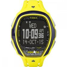 Orologio TIMEX SLEEK 150 LAP TW5M08300 TAP SCREEN Digitale Silicone Giallo Nero