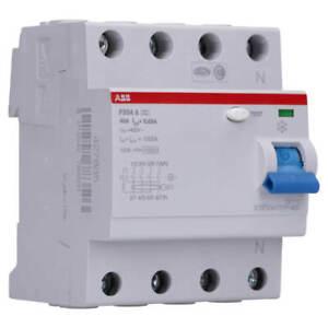ABB FI-Schalter RCD Fehlerstrom Schutzschalter F204A-40/0,03 FI 40A 30mA 4 polig