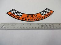 65 Mustang 200 Six decal ,Ford 200 engine, High Performance air cleaner decal 66