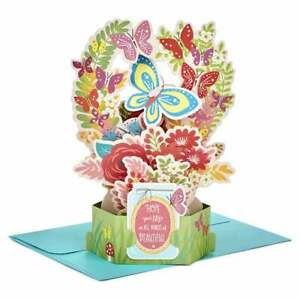 Hallmark Paper Wonder Birthday Flowers 3D Pop Up Card 25522158