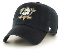 Anaheim Mighty Ducks 47 Brand NHL Strapback Adjustable Dad Cap Hat Clean Up