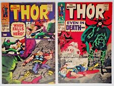 2) 1967 Marvel Comics Book Mighty Thor #149 & #150 Black Bolt Triton Inhumans