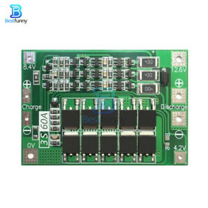 3S 60A BMS Charger Li-Ion Lithium LiPo 18650 Battery Protection Board w/ Balance