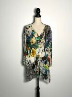 Roberto Cavalli Floral Print Silk Tunic Size 48 US Size 12