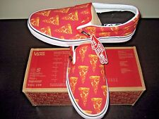 Vans Classic Slip on Mens Late Night Mars Red Pizza Canvas Skate shoes Size 10