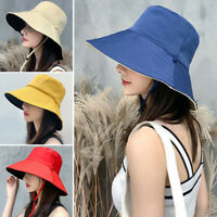 Women Cap Sun Hiking Bucket Hat Foldable Summer Beach Protection Wide Brim New