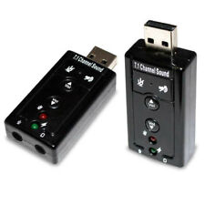 Scheda Audio Usb 7.1 Canali Esterna 3d Sound Adattatore Pc Notebook Card Adapter