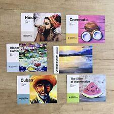 ETHNIC Set 6 Unique ART Cards Hindu, Lotuses, Watermelon, Sunset, Cuban, Coc