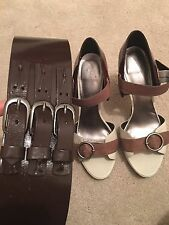 Fab Nine West heels and matching belt, Size 5