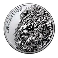 2019 CHAD AFRICAN LION COIN UNC SILVER 1 OZ.