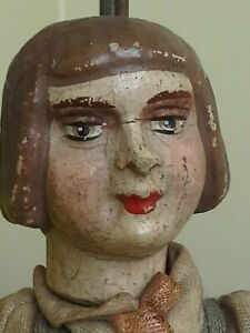 18e century puppet marionette toy doll 18cm Belgium clay head under arms & legs