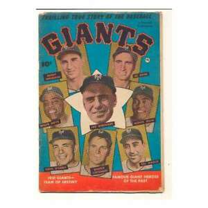 Thrilling True Story of the Baseball Giants #1 in VG cond. Fawcett comics [*13]