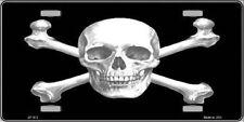 Skull And Cross Bones Metal Novelty License Plate Tag