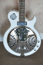 NEW JAZZ ELECTRIC ACOUSTIC RESONATOR GUITAR ABALONE INLAY - WHITE FINISH