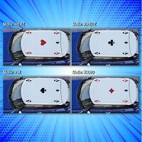 Ass Dachaufkleber 4 Motive zur Auswahl! Poker Autoaufkleber Tuning Folie JDM NEU