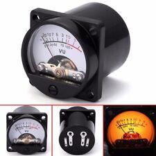 Panel VU Meter 6-12V Bulb Warm Back Light Recording Audio Level Amp Meter Tool