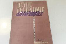 REVUE TECHNIQUE AUTOMOBILE DECEMBRE 1947 DODGE